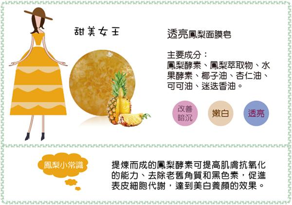 鳳梨面膜皂,酵素皂,亮白,去角質